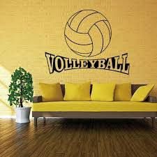 42 72cm volleyball vinyl wall decal stickers for kids sport boy bedroom art wall home decor wallpapers environmental protection sticker decor sticker decor  on is vinyl wall art easy to remove with 42 72cm volleyball vinyl wall decal stickers for kids sport boy