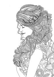 woman coloring book