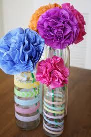 Paper Flower Bouquet In Vase Modern Flower Bouquet Tissue Paper And Washi Tape Ella