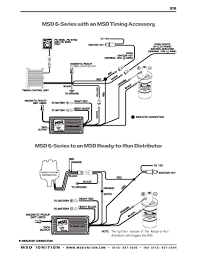 msd ignition wiring diagrams msd 6 series to msd ready to run distributor