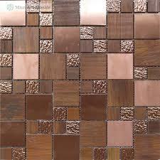 metal copper mosaic tiles a6yg33