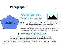 "how to write a paragraph essay outline 6 conclusion thesis restated ""the 5 paragraph essay"