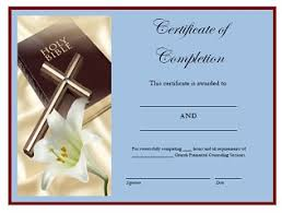 Premarital Counseling Sessions Certificate Of Completion