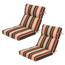 hampton bay majestic stripe high back outdoor chair