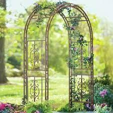garden wrought iron arch arbor trellis