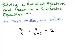 solving rational equation to quadratic 1 preview image