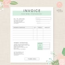 Invoice Template For Photographers Invoice Template Photography Invoice Business Invoice