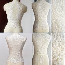 details about big flower lace applique embroidered sewing bridal wedding dress patch diy decor