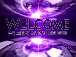 Welcome Purple Purple Tech Welcome Splash Screen