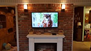 Tv Over Fireplace Installation  Home Theater InstallationMounting A Tv Over A Fireplace