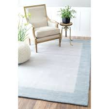 full size of light blue runner rug nuloom handmade solid border wool sea blue runner rug