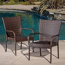 best ing outdoor wicker chairs 2 pack 0