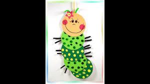 Fensterbild Süße Raupe Basteln Mit Kindern Youtube