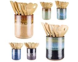 Utensil Jar in your choice of 16 glazes! Wheel thrown pottery utensil crock  / spoon