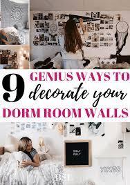 dorm room wall decor 9 genius ways to