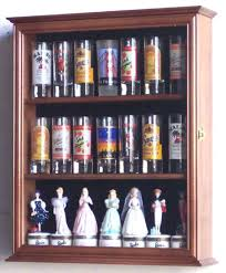 collector case tall shot glass id display jewelry