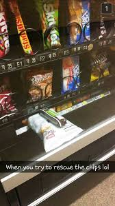 Stuck Vending Machine Extraordinary When You Try To Rescue The Bag Of Chips Stuck In A Vending Machine
