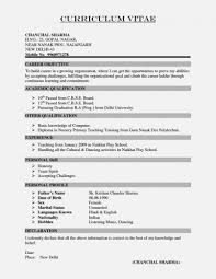 Template Science Teacher Cv India Resume Template Cover Letter