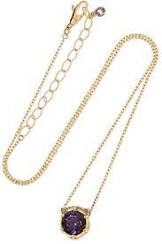 gucci women s metallic le marché des merveilles 18 karat gold multi stone necklace