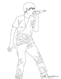 Justin Bieber Coloring Page Cute Singer Coloring Page Coloring Page