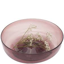 glass bowl large handblown glass