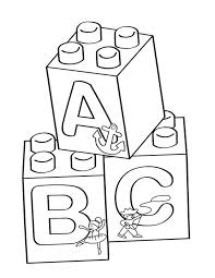 lego a b c blocks coloring page free printable coloring pages