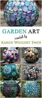 Decorating Bowling Balls Marbles Gorgeous How To Makre Decorative Garden Art Balls Garden Pinterest