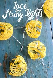 string light diy ideas cool home. Modren Cool DIY Lace String Lights With Light Diy Ideas Cool Home