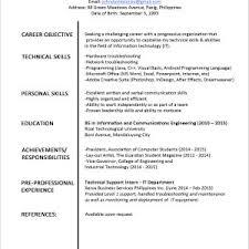 Resume Template Word For Fresh Graduate Best Resume Samples For ...