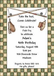 Adult Birthday Invitations Fish Fry Abi364 Diy By