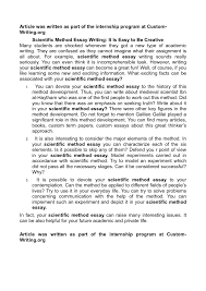 how to write a conclusion in science essay co scientific essay examples okl mindsprout co
