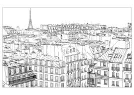 Paris Coloring Pages For Adults Justcolor