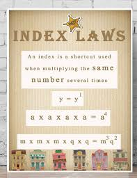 math laws maths posters index laws printable teaching resources math