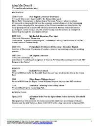 Cv Exemplars Academic Cv Examples Vitae Website