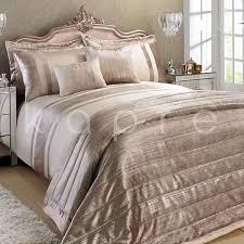luxury metallic velvet duvet quilt cover bedding set throw silver grey rose gold 1 of 6free see more