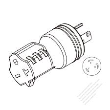 Adapter plug nema l6 30p twist locking to nema 6 20r 2 p 3 wire b3d84f56ac76b85fca0ryc