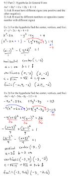 hyperbolas general form