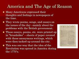 the age of reason ben franklin thomas jefferson thomas paine ppt  5 america