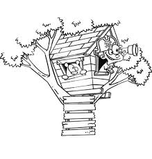 Small Picture A Boy Playing Pirate on Treehouse Coloring Page A Boy Playing