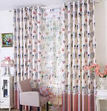 classic kids curtains uk linen and cotton in red and blue colo
