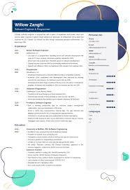 Software Developer Resume Samples Software Engineer Resume Template 25 Examples And Writing Tips