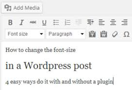 how to change text size how to change the font size in wordpress
