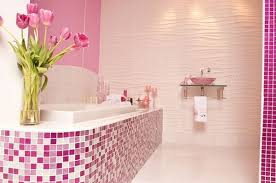 how to decorate bathrooms with pink