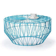 adeco accent round starburst end side table iron sky blue