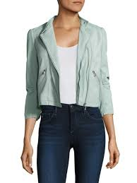 rebecca taylor washed leather crop jacket ocean dusk women s jackets vests faux