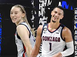 Paige Bueckers and Jalen Suggs were ...