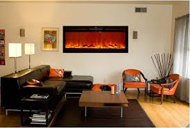 details about touchstone black 50 sideline wall electric fireplace recess or hang free sh