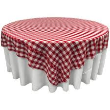 white and red polyester gingham checd