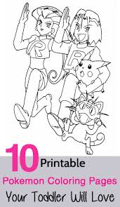 10 Printable Pokemon Coloring Pages Your