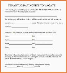 30 day notice to move out letter 6 landlord to tenant 30 day notice to vacate letter second